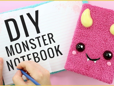 DIY Back to School Monster Notebook!