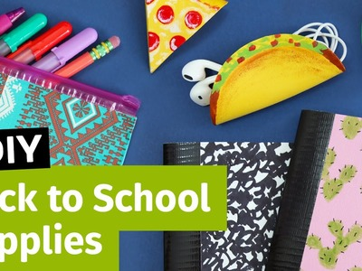 DIY Back to School Supplies: Pencil Case, Cord Taco & Mini Notebooks | Sea Lemon