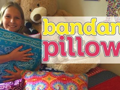 DIY Bandana Pillows || Kinsey Creates