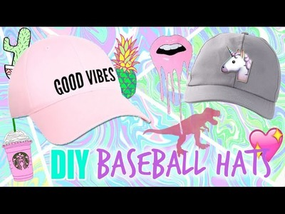 DIY BASEBALL HATS. DIY GRAPHIC BASEBALL HAT + DIY SHRINKY DINK PINS