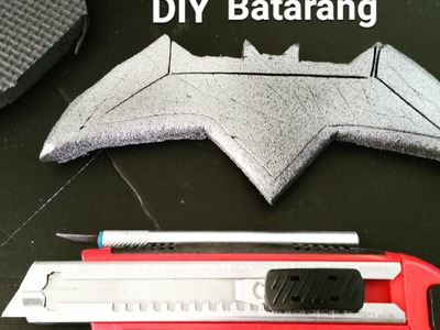 DIY Batarang. Homemade Batman V Superman Batarang foam build tutorial.