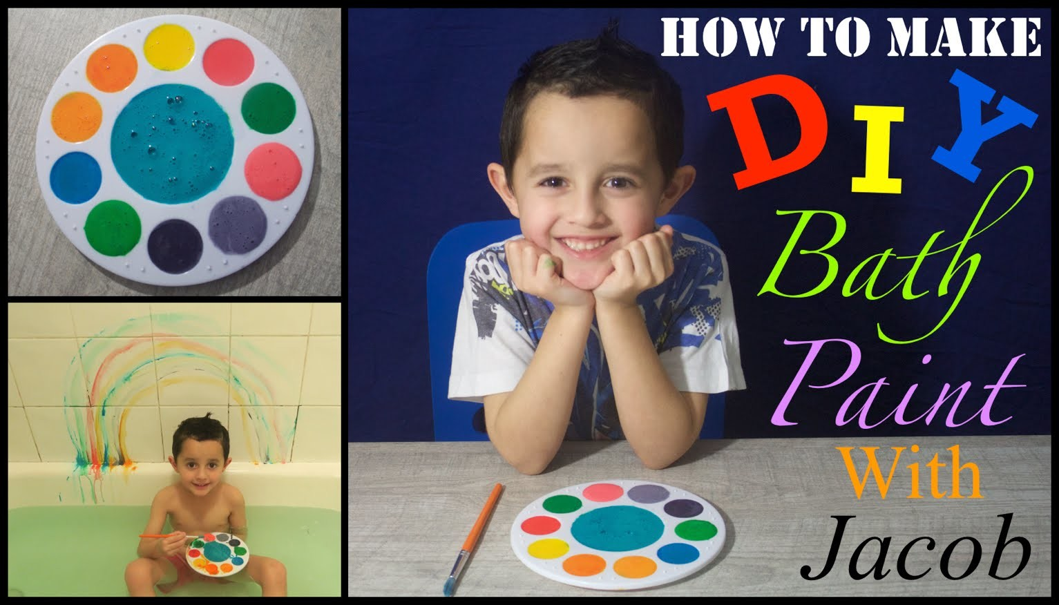 DIY BATH PAINT FOR TODDLERS & KIDS | EASY & SIMPLE | RINSES AWAY INSTANTLY!