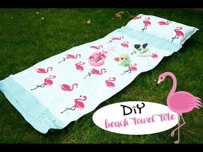 DIY beach towel tote