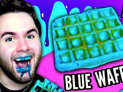 DIY BLUE WAFFLE | How To Make Moist Edible Blue Waffles Tutorial