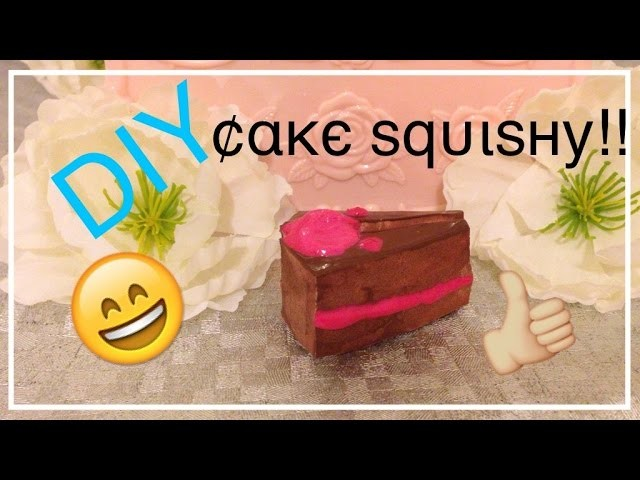 DIY Cake Squishy!! + How to make tag and packaging!!