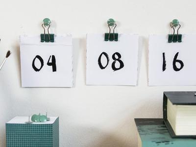 DIY: Calendar by Søstrene Grene