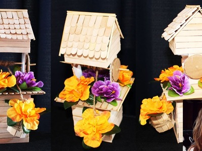 DIY Creative Ways to Reuse. Recycle a box to make a well to decorate your home