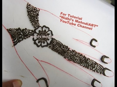 DIY Cute Girly Arabic Ornamental Back Hand Henna Mehndi Design Tutorial