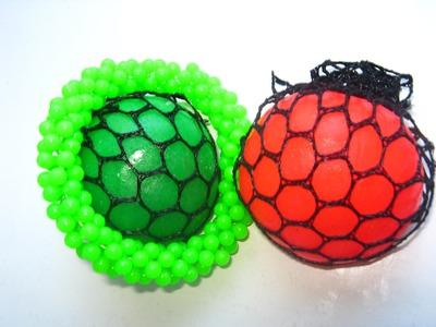 DIY Cutting Open SLIME BALLS Stress Squishy Mesh Weird Color Stress Video Kids FunToyo Surprise