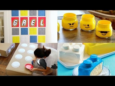 DIY Decoraciones para fiesta de legos. Lego Party Decorations - karely