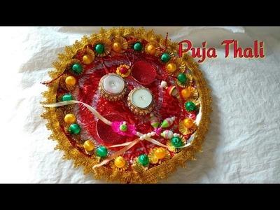 DIY Decorate Pooja Thali | How To | Rakhi Platter | Diwali Puja Thali | Karvachauth Puja Thali