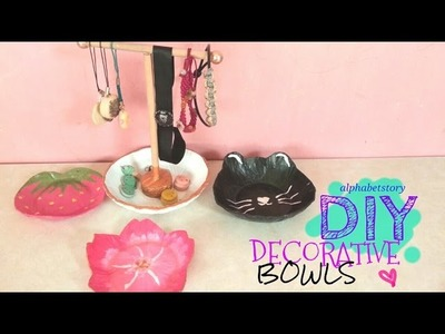 DIY: Decorative Bowls from SCRATCH (FLOWER, CAT, FRUIT BOWL) | NO CLAY