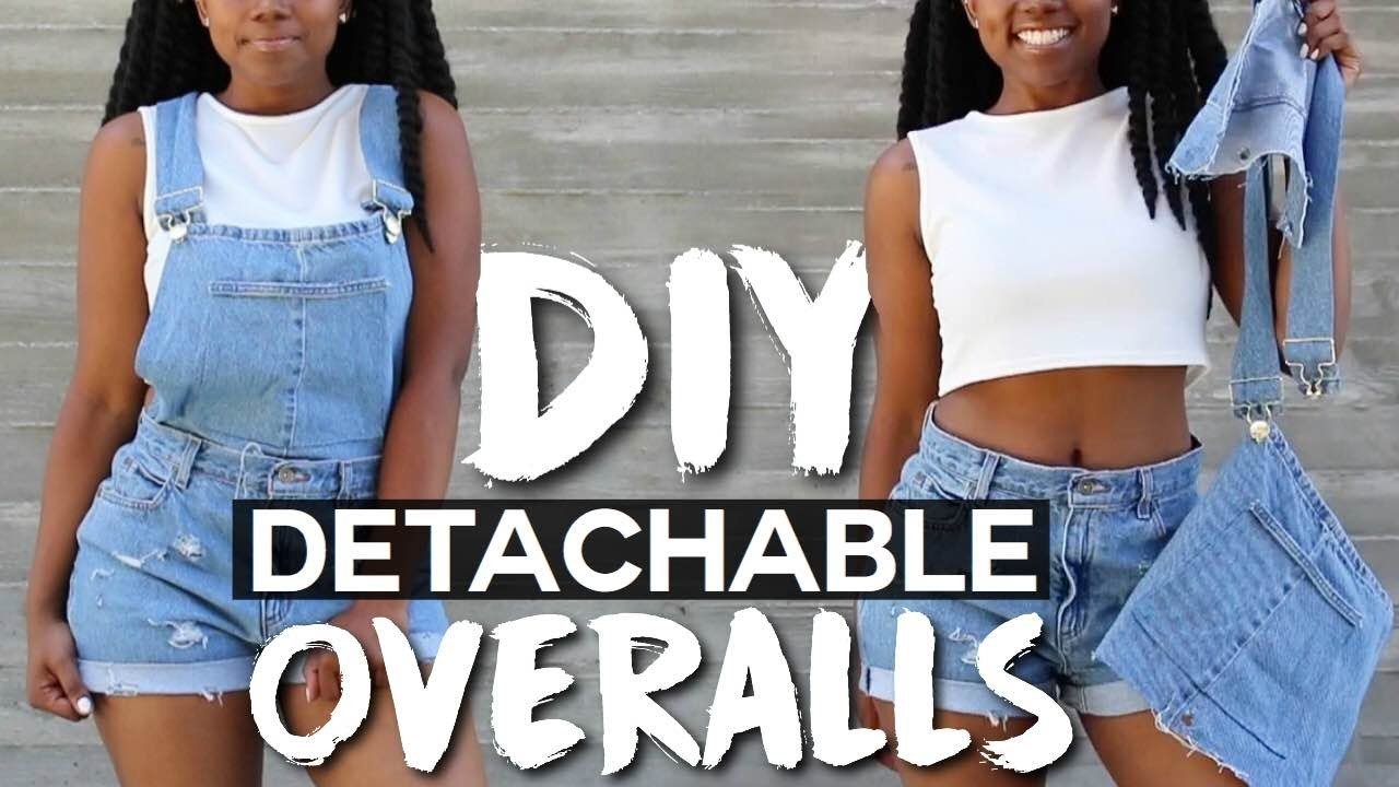 DIY Detachable Overalls.Dungarees