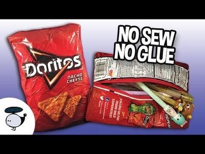 DIY Doritos Pencil Bag - No Sew, No Glue! Back to School Tutorial