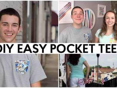 DIY EASY POCKET TEES | TUMBLR INSPIRED FASHION