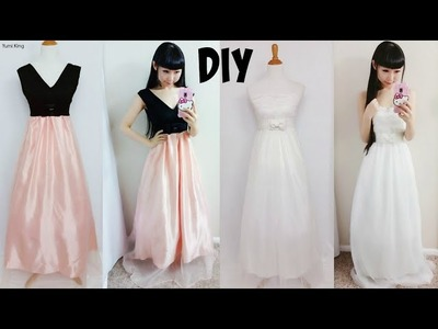 DIY Easy Wedding Dress & Prom Dress from Scratch (Floor Length)| DIY Formal Dress