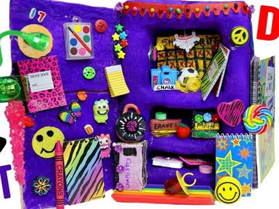 DIY Edible School Locker | EAT Locker Decor, Combination Lock, Books &  Back To School Supplies!