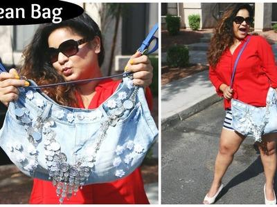 DIY Fashion Jeans BAG ( recycled denim) DIY Bag | Pretty | Easy | Affordable | By Laxmi Jakkal