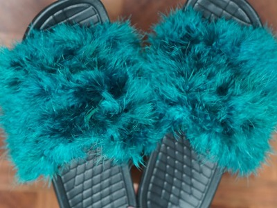 DIY Faux Fur Slides | SheemaJtv