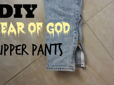 DIY Fear Of God Inspired Zipper pants (The store bought look)