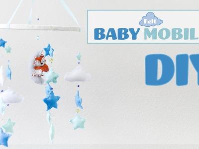 DIY Felt Baby Mobile. Movil de bebes con fieltro
