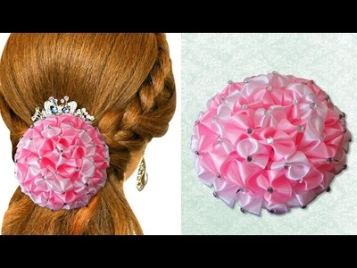 DIY for Girls : Beautiful Satin Ribbon Flower to Decorate Anything | Kanzashi Hair Accessories