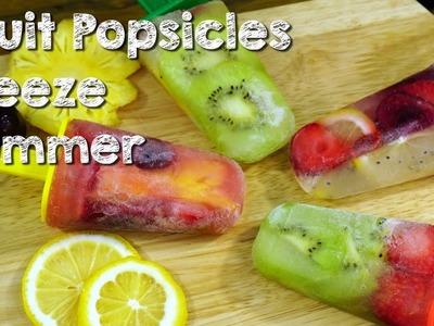 DIY Fruit Popsicles freeze Summer