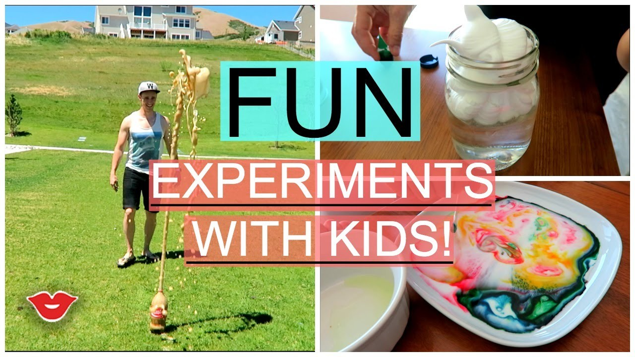 DIY Fun Experiments for the Kids! | Michelle from Millennial Moms