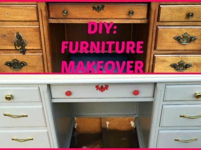DIY: Furniture Makeover   Beauty Room Desk   JumieAnne