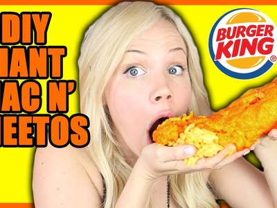 DIY GIANT BURGER KING MAC N' CHEETOS!!