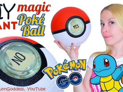 DIY GIANT Magic Poke Ball – How To Make Big Magic 8-Ball In Pokemon Go Style