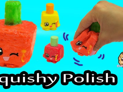 DIY Glow In The Dark Squishy Polly Polish Makeup Shopkins Season 1 Inspired Craft Do It Yourself