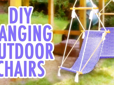 DIY Hanging Outdoor Chairs- HGTV Handmade