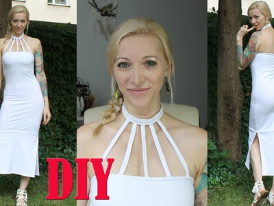 DIY High Neck Dress With 5 Straps