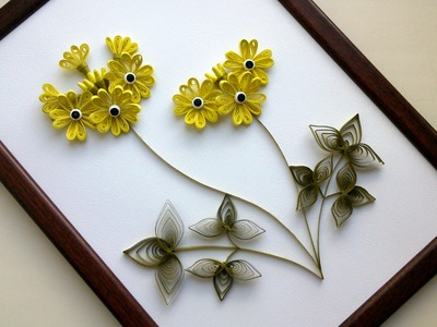 DIY Home Decor With Paper Quilling Art :  DIY Room Decor With  Quilling Flowers