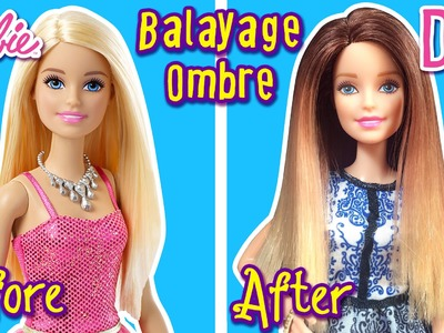 DIY - How to Balayage Ombre Hair for Barbie Doll - Barbie Tutorial - Making Kids Toys