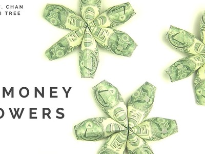 DIY How to Fold $3 Flower - Money Dollar Origami - Paper Crafts