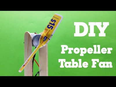 DIY - How to make a Propeller Fan using a sim card - Easy and Simple - Tutorial