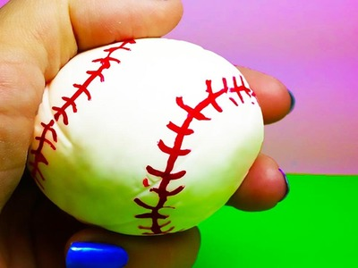 DIY: How To Make a Super Cool BOUNCY BALL WITH BORAX! looks Just Like A Real BASEBALL!!