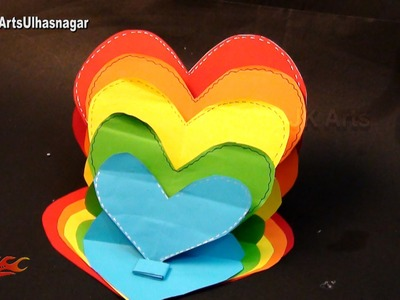 DIY How to make Heart Easel Card  | Valentine's Day Card | JK Arts 1016