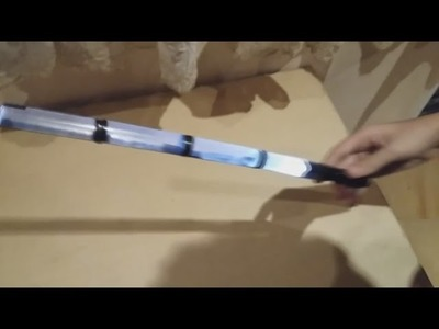 DIY - How to make lightsaber from plastic glass and flashlight, can each, decorative, easy to do