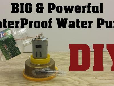 DIY: How to make Powerful WaterProof Water Pump : 1080p HD