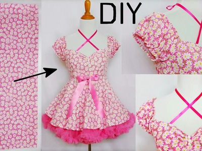 DIY: How to Turn Any Yard of Fabric into Any Short Sleeve Dress | DIY Short Sleeve Dress