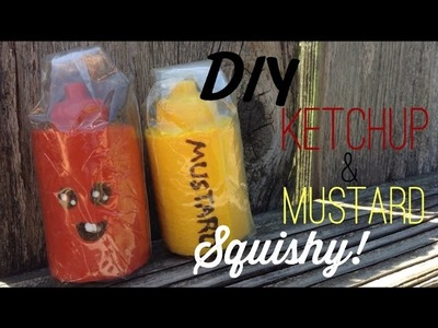 DIY Ketchup Bottle HOMEMADE SQUISHY Tutorial!!!!! Super easy:DD