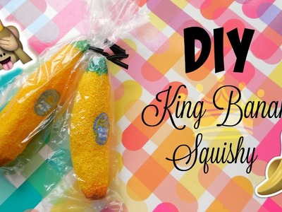 DIY King Banana Inspired Squishy | mishcrafts