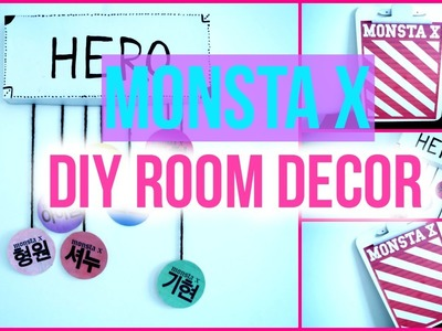 DIY KPOP. MONSTA X Room Decor | KpopStyled