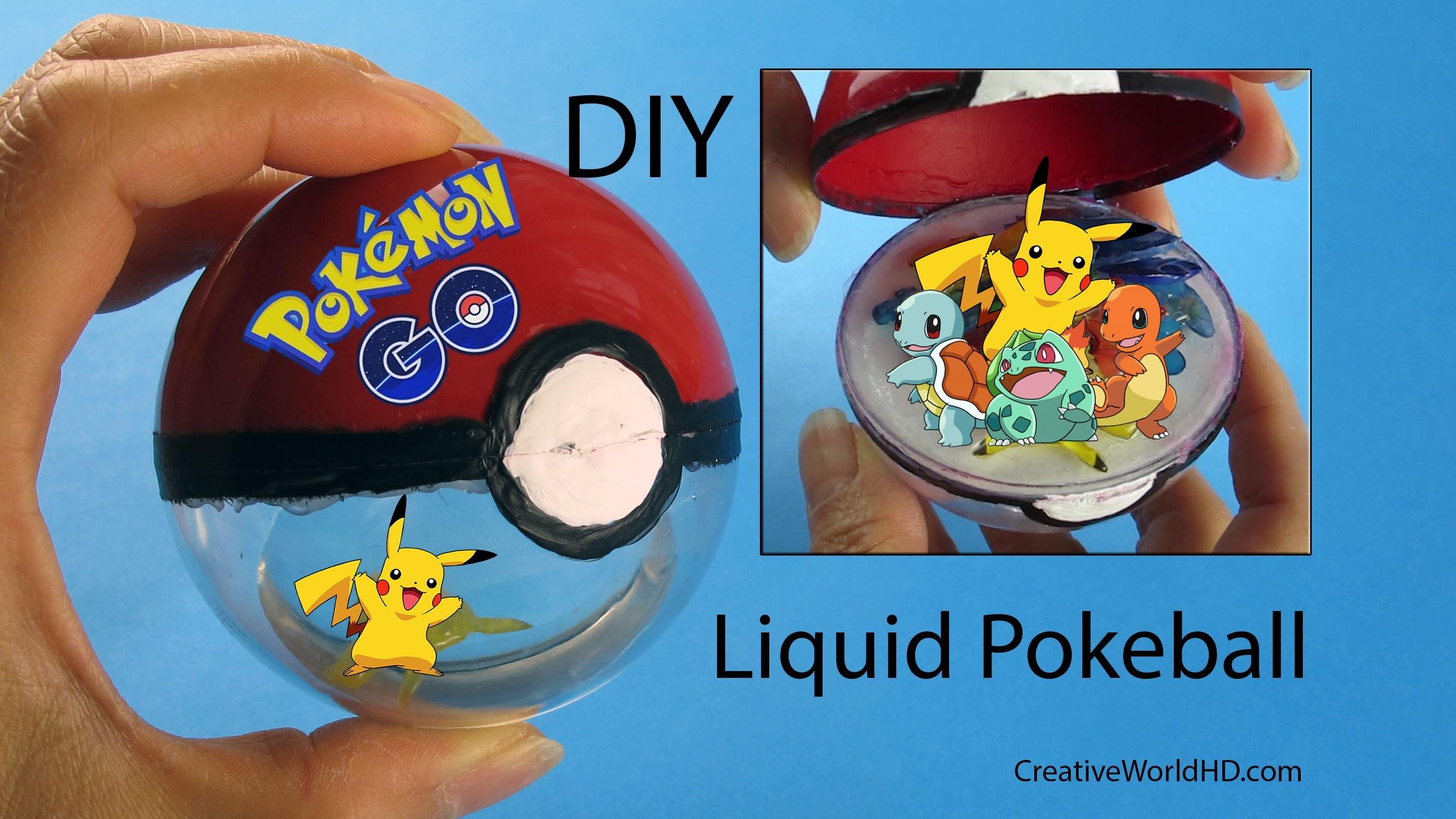 DIY: Liquid Pokeball Openable with Pokemon Inside Pokemon Go.How to Tutorial by Creative World