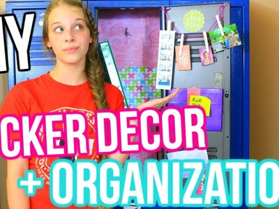 DIY Locker Decor AND Organization! + My Essentials! Back To School 2016-2017! || Chloe's Crazy Life