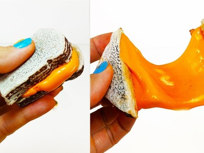 DIY: Make A Toy SLIME Grilled CHEESE Sandwich With Borax & Play Dough! Super Fun, But  NOT Edible!!