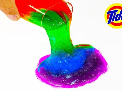 DIY: Make Your Own RAINBOW TIDE DETERGENT SLIME! *NO BORAX* Super Clear & Colorful, 3 Ingredients!